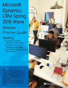 Download the Microsoft Dynamics CRM Spring 2016 Wave Release Preview Guide