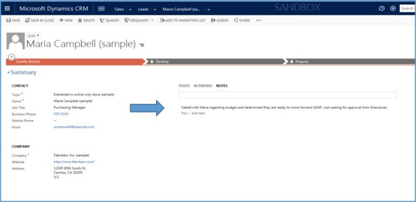 Dynamics CRM Activities Not Notes xRM3 Picture1