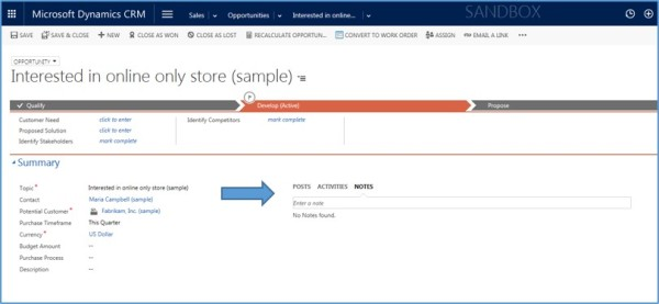 Dynamics CRM Activities Not Notes xRM3 Picture2