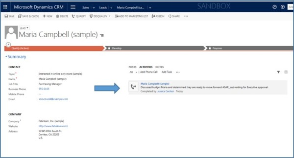 Dynamics CRM Activities Not Notes xRM3 Picture3